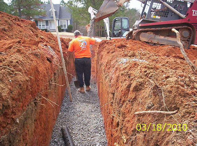 Installation of base aggregate Gravel septic system maintenance for Northeast Georgia and the surrounding area