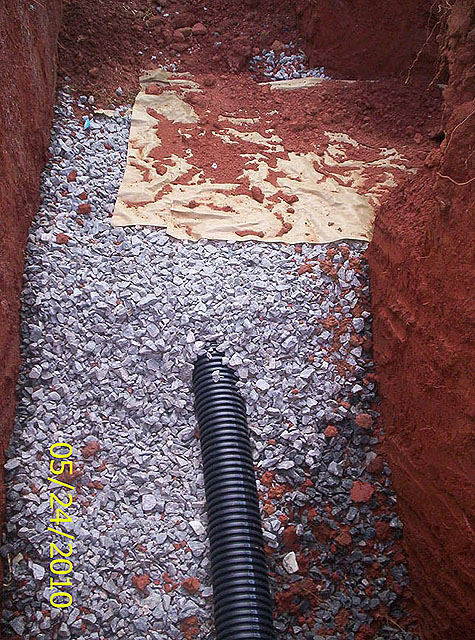 Drainfield trench, cont Northeast Georgia based GSI offers septic system installation, maintanance and repair