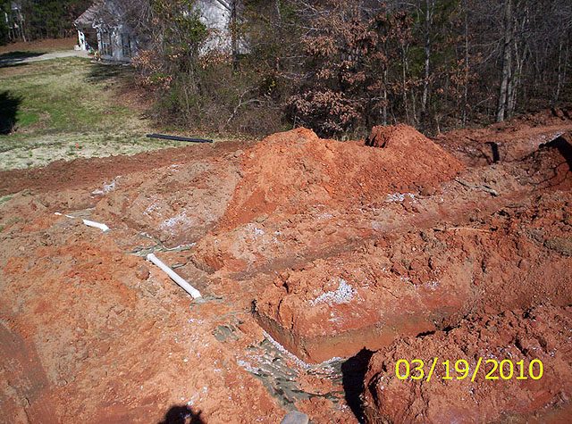 Completed system installation GSI provides full service septic tank repair and septic system maintenance