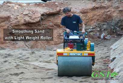 smoothing sand with light weight roller Jackson County Hall County Rabun County Fanin County Georgia septic system repair and installation