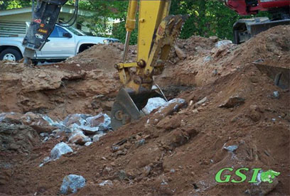 rock & confined space reason for installing Advanced Eljen system GSI is your source for septic system repair in Northeast Georgia