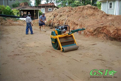 finished installation of sand Northeast Georgia septic system repair - contact Gravelator Systems, Inc.
