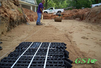 installing Eljen modules Contact GSI for septic system repair, installation and maintenance in Northeast Georgia and the surrounding area