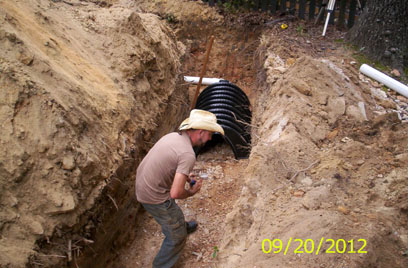 installation of chamber system Northeast Georgia based GSI offers septic system installation, maintanance and repair
