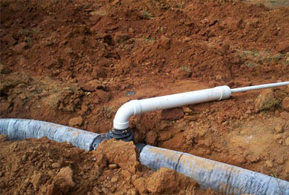 simple connection from K-Valve to large diameter pipe GSI provides full service septic tank repair and septic system maintenance