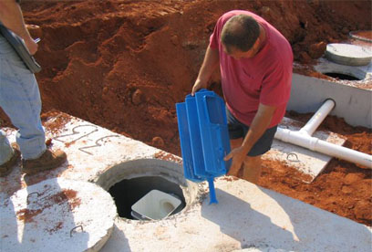 installation of commercial grade PL525 filter Northeast Georgia based GSI offers septic system installation, maintanance and repair