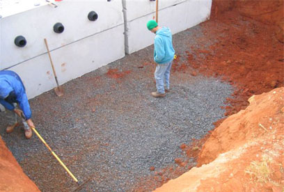 preparing tank hole GSI provides full service septic tank repair and septic system maintenance