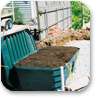 installed peat module on aggregate bed